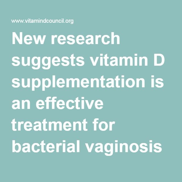 New research suggests vitamin D supplementation is an effective treatment for bacterial vaginosis | Vitamin D Council