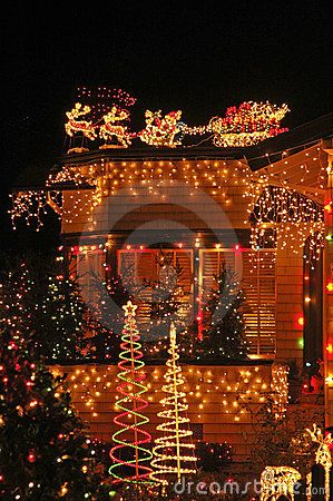 X-mas lights overkill. by Cathy Frost, via Dreamstime