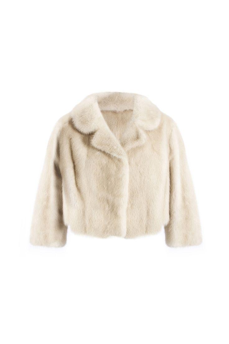 Vison coat - Beige          Shop online in www.beniroom.com