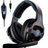 #10: [2016 New Version Headset for PS4 PC] SADES 810S Gaming Headset Headphones for PlayStation4 PS4 PC Laptop MAC with Noise Reduction microphone