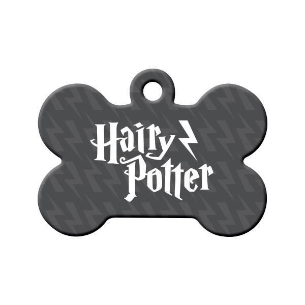 Hairy Potter Dog Tag - Hairy Potter is the pet version of the famous Harry Potter series. If you're a fan, then no doubt your pet loves Hairy Potter.