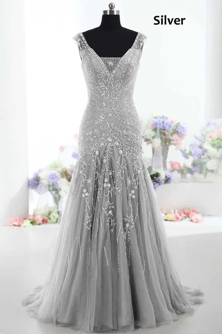 Unique Silver Bridesmaid Dresses