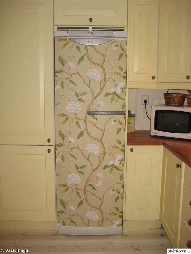 tapeter kylskåp