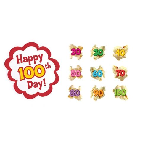 100 Days of Popcorn Bulletin Board Set