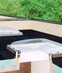 Aufbau der Flachdach-Fenster