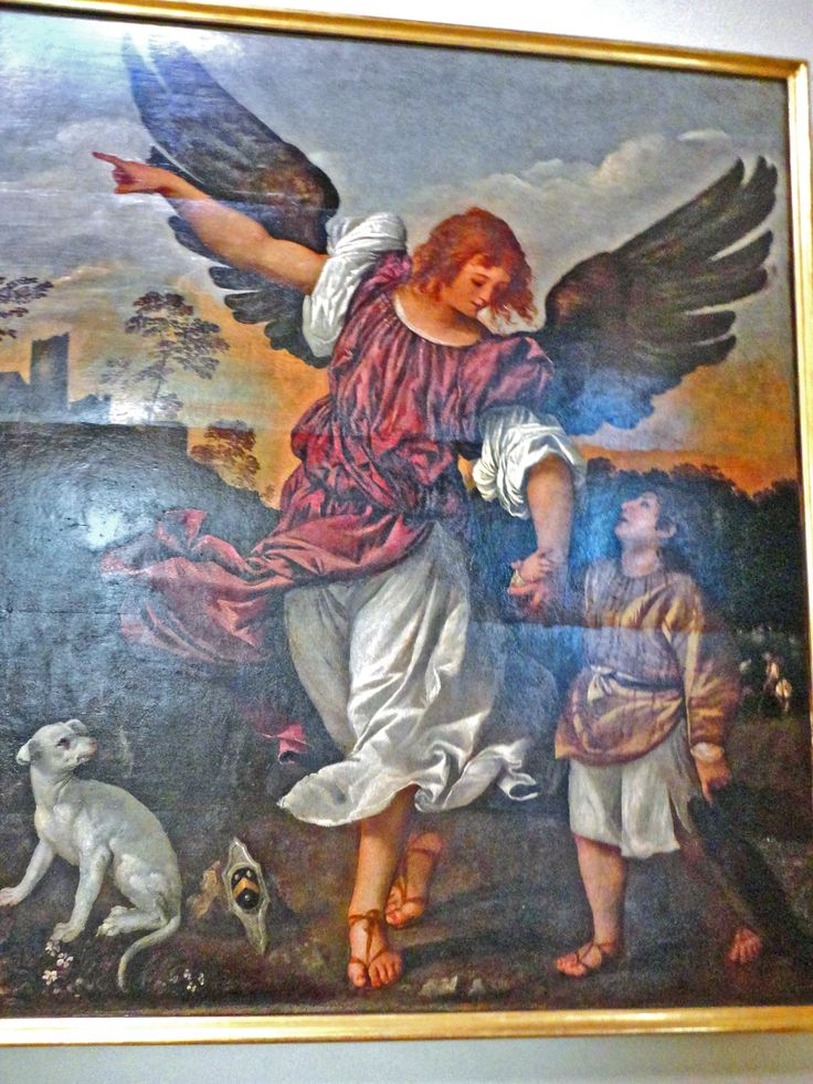 L'Arcangelo Raffaele e Tobiolo Tiziano Vecellio Gallerie dell'Accademia Veneza