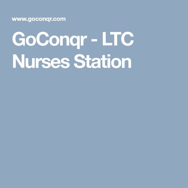 GoConqr - LTC Nurses Station