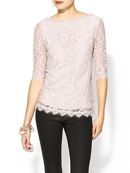 My new party favorite top! | Pim + Larkin Boatneck Lace Top