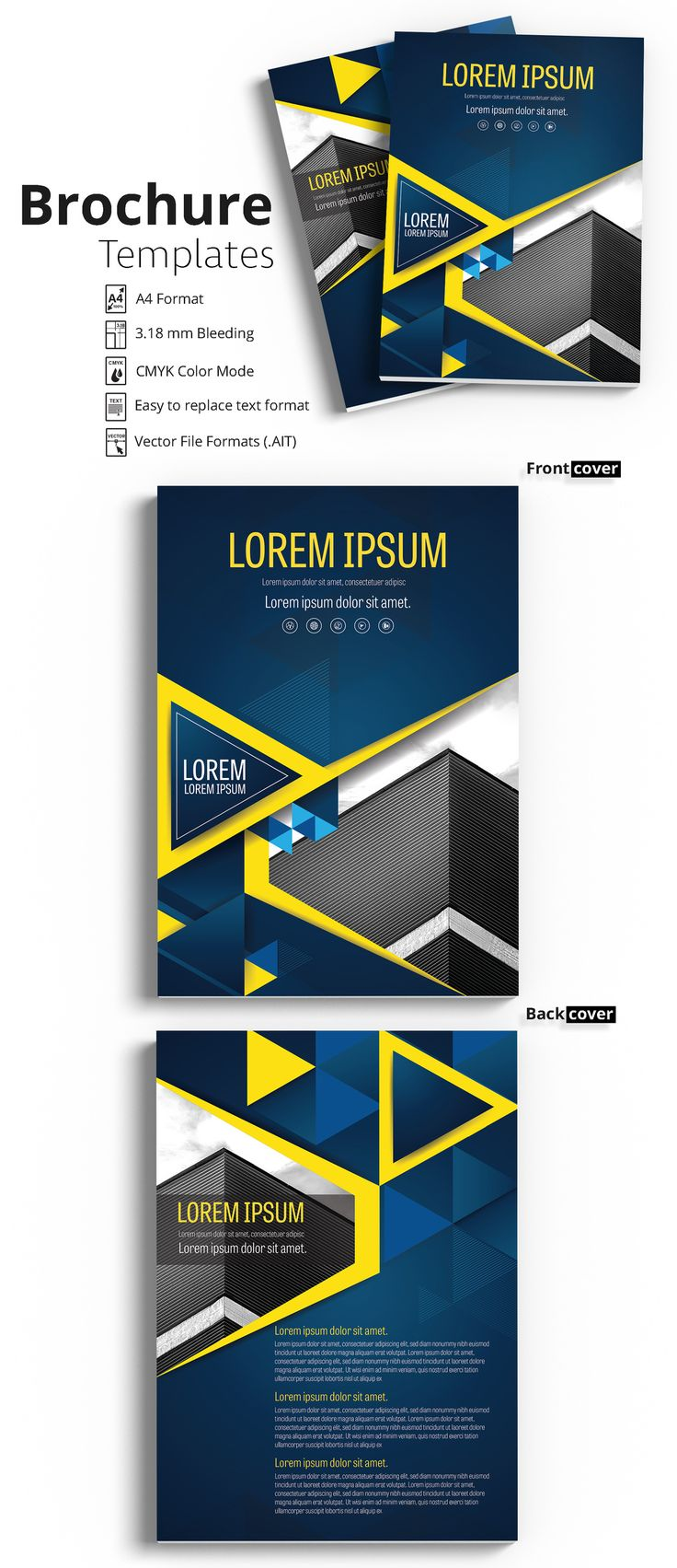 Brochure Cover Layout with Blue and Yellow Accents 2 - image | Adobe Stock #Brochure #Business #Proposal #Booklet #Flyer #Template #Design #Layout #Cover #Book #Booklet #A4 #Annual #Report| Brochure template | Brochure design template | Flyers | Template | Brochures | Flyer Background | Background design | Business Proposal | Proposal Design | Booklet | Professional | Professional - Proposal - Brochure - Template