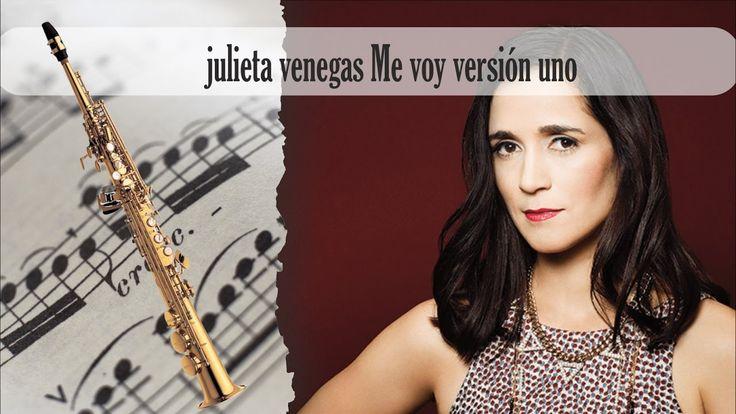 Partitura julieta venegas Me voy versión uno Saxofón Soprano