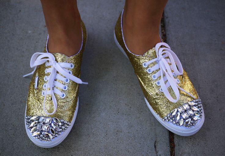DIY glitter sneakers, a la Miu Miu