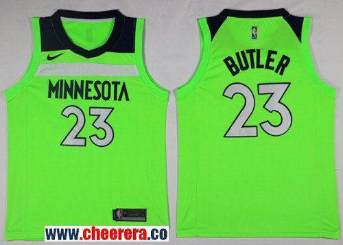 best website 9aaba 942c6 Men's Nike Minnesota Timberwolves #23 Jimmy Butler Green NBA ...