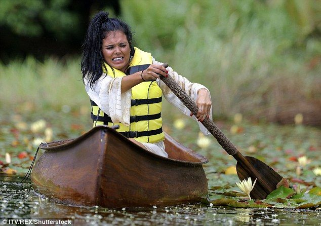 Not a good start! Gogglebox's Scarlett Moffatt, 26, looked terrified as she was forced to compete in the 'cruel canoe' challenge ahead of I'm A Celebrity... Get me Out Of Here!'s Sunday night premiere