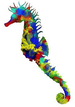 Nostalgic Art - Seahorse Art