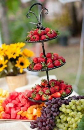 FRUIT Buffet Table Would Be A Colorful U0026 Sweet Idea For Guests!! Www.
