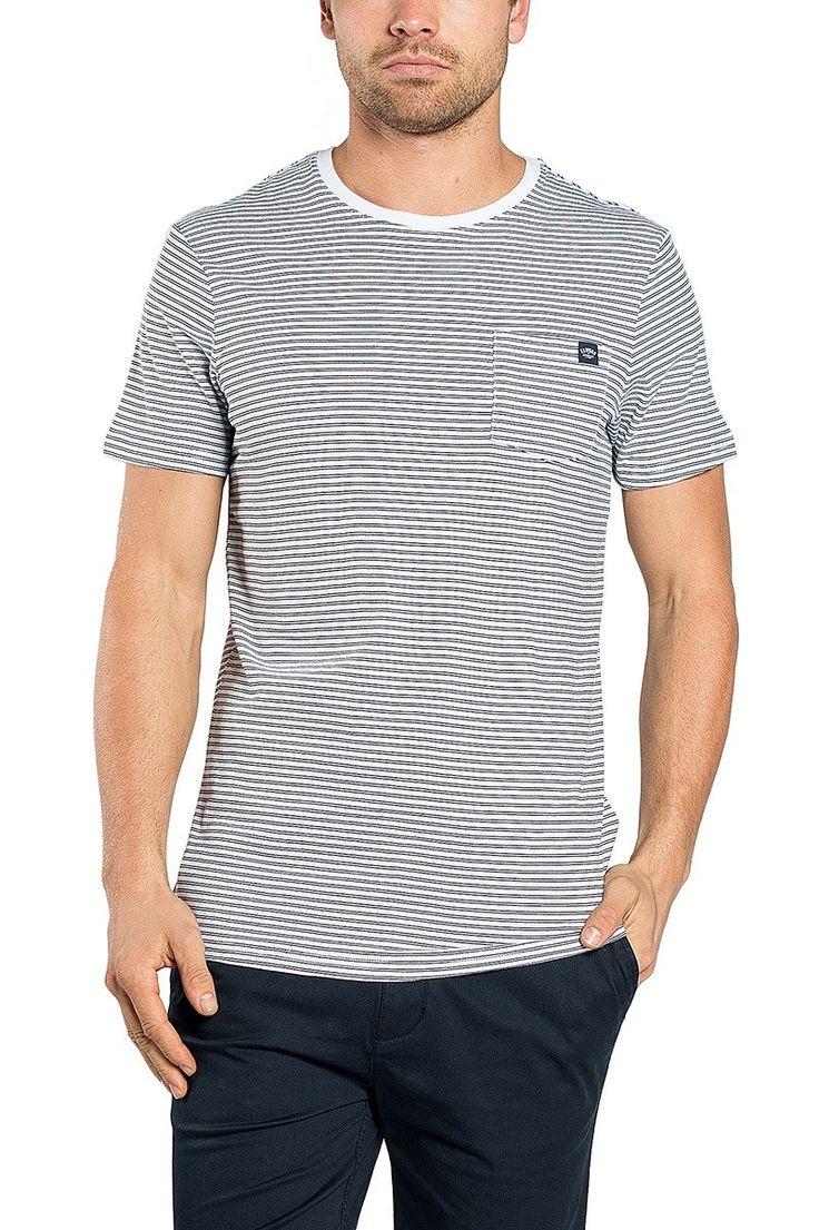 ELWOOD CLOTHING - Core Stripe Tee Dark Navy