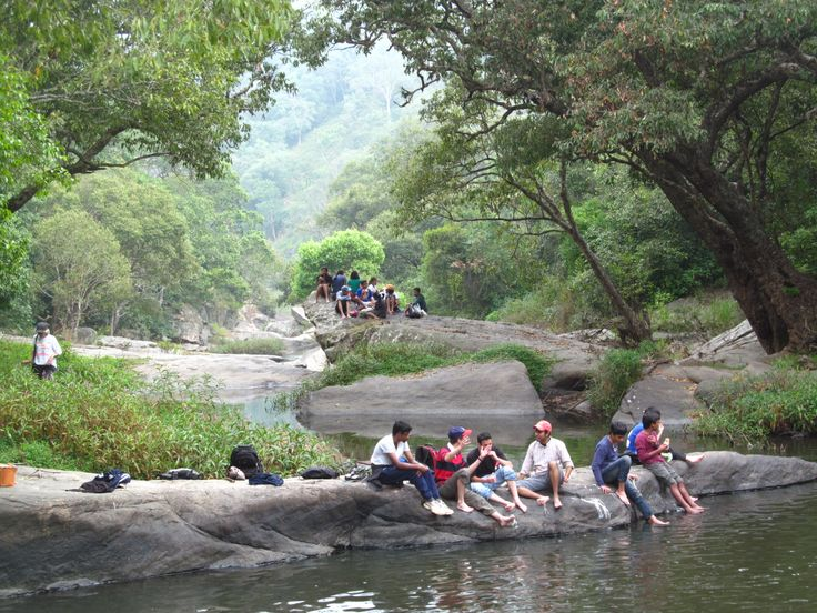 Elephant Valley, (also known as Palar Waterfall) Grade 9's sat on the 'lunch rock', while the others hung out by the 'swim hole'