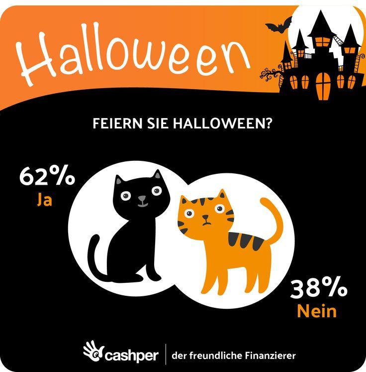 Süßes oder Saures! Es ist wieder soweit: Halloween steht vor der Tür. Halloween wird jedes Jahr beliebter in Deutschland und dadurch erleben immer mehr Leute den Spaß! Haben Sie schon Ihr Kostüm und einige Süßigkeiten im Haus? Wir von Cashper sind für unseren Blog sehr daran interessiert, wie Sie Halloween feiern. #halloween #halloween2017 #trickortreat #infografik