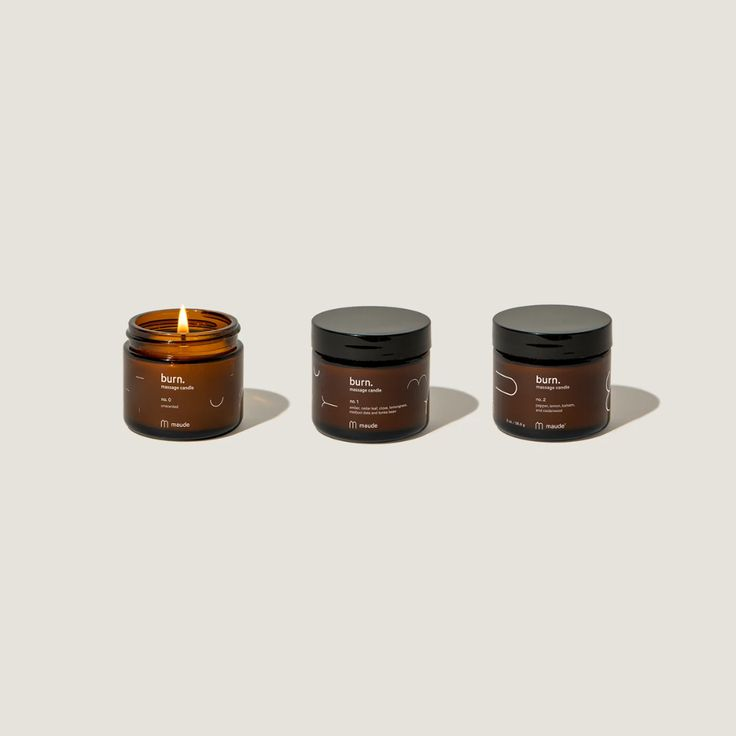 burn trio | maude Oil Candles, Candle Jars, Beauty Care, Beauty Hacks, Cake Decorating Techniques, Decorating Ideas, Olive Fruit, Meditation Space, Dyi Crafts