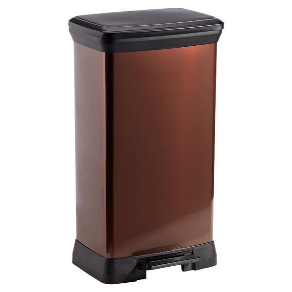 13 2 Gal Deco Step Can Bronze Kitchen Trash Cans