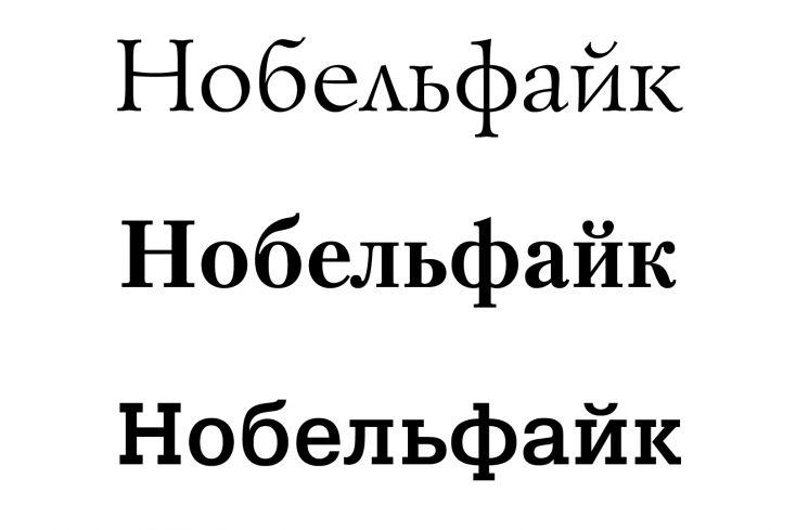 Вогнутые засечки – шрифт Lazurski, линейные засечки – шрифт Petersburg, брусковые засечки – шрифт Pragmatica Slabserif.