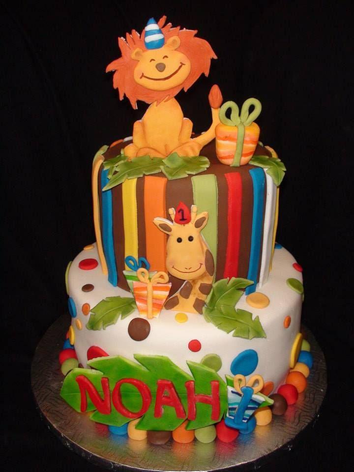 jungle 1st birthday cake creation maman gateau