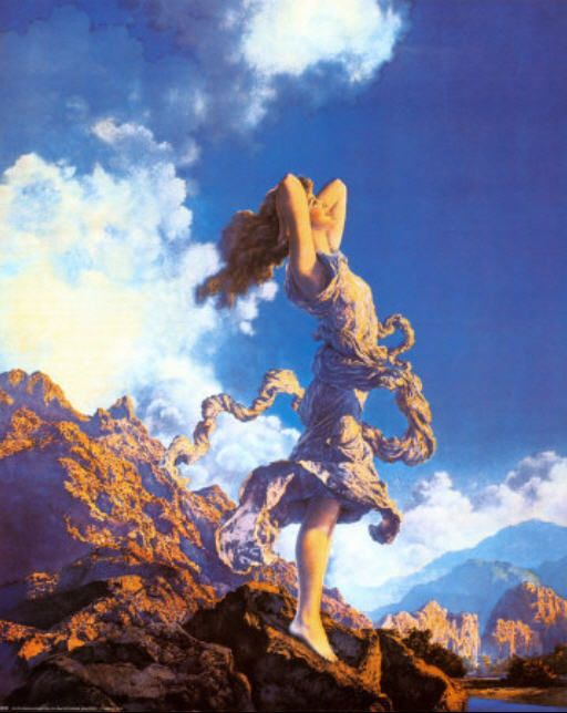 """Maxfield Parrish  """"Ecstasy""""  """"That's what I was thinking!"""""""