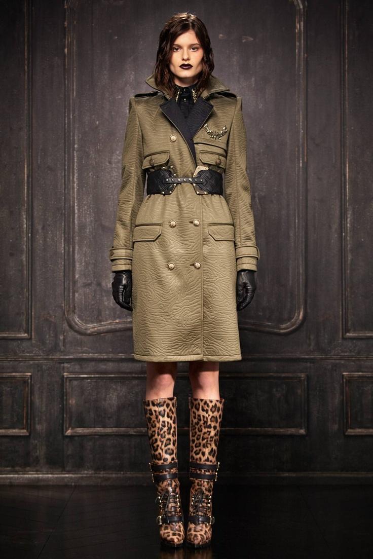 Just Cavalli Pre Fall 2013 Fashion Show in 2020 - Fashion, Military inspired fashion, Military fashion - 웹