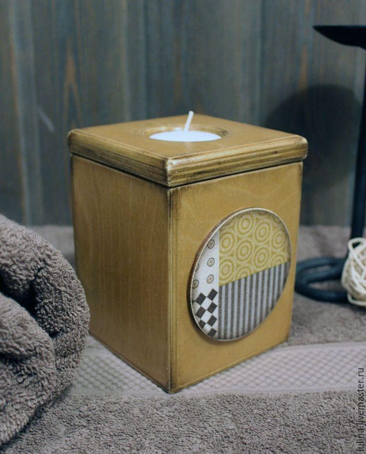 """Подсвечники """"Геометрия"""" - комбинированный, подсвечник, для свечи, хранение свечей, для ванной комнаты, для уюта, деревянный"""