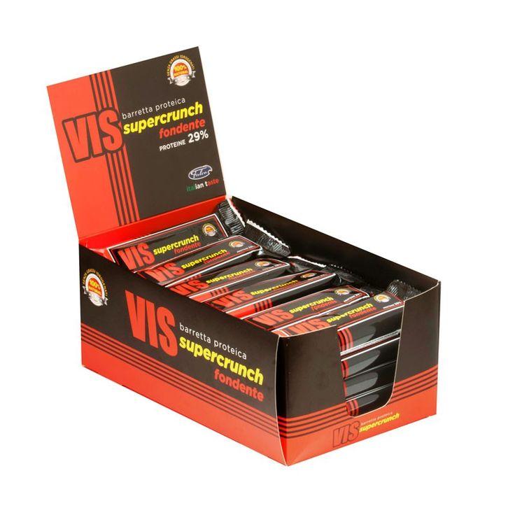 Nutrytional® - VIS SUPERCRUNCH box di barrette proteiche al cioccolato fondente