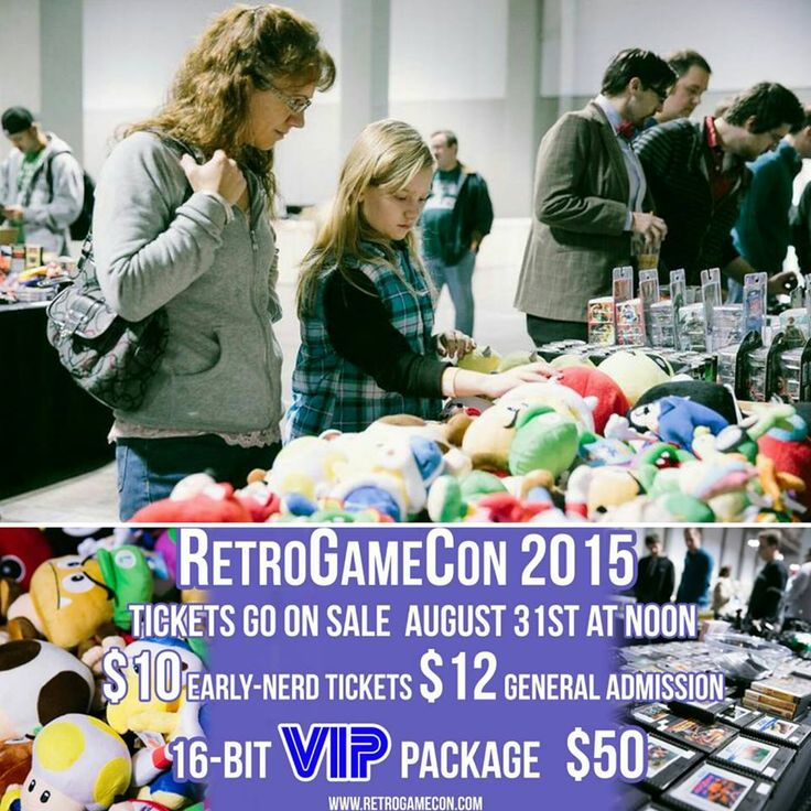 """RetroGameCon 2015 is a Family Friendly event with a package the """"Family"""" Can enjoy! :)  Family Pass  Entry at 10AM Pass includes entry for 2 adults and up to 4 children $30 per family Early-Nerd Special (only available online until Nov. 10th)  $35 per family General Admission at the door Children 6 and under are free  For Tickets: http://retrogamecon.com/tickets/"""