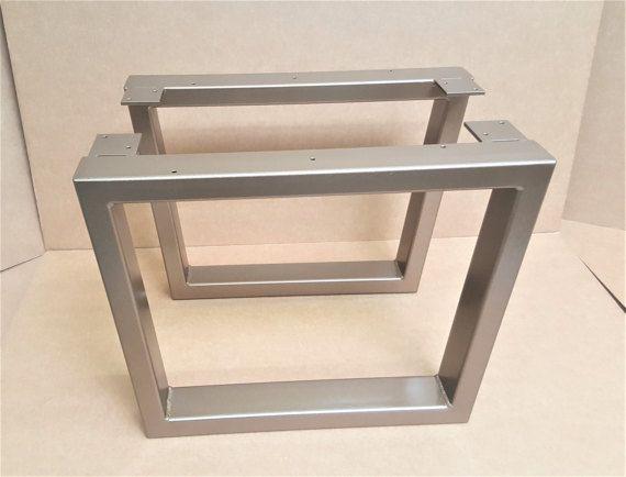Trapezoid Steel Legs Model 031 Coffee Table Industrial by DVAMetal