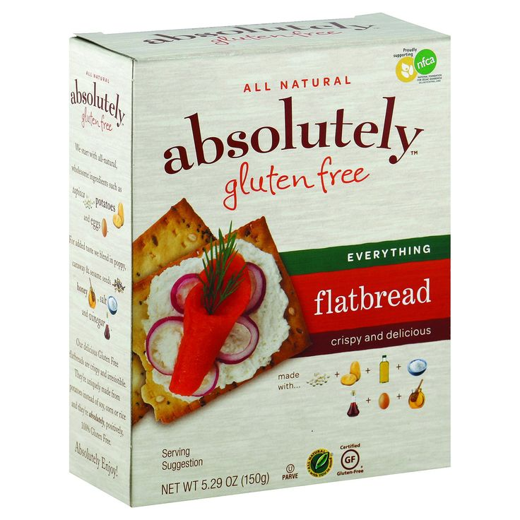Absolutely gluten free flatbread original case of 12