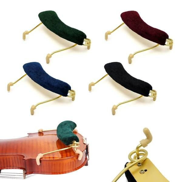 Violin Shoulder Rest Pad For 3/4 4/4 Fiddle Violin  Description: Name: Violin Shoulder Rest Material: Metal material with spring design Color: Green, Black, Red, Blue Type: Acoustic Application: 3/4 & 4/4 Violin Net weight: 65g Features: Available in 4 choice of colors. Ergonomic design...