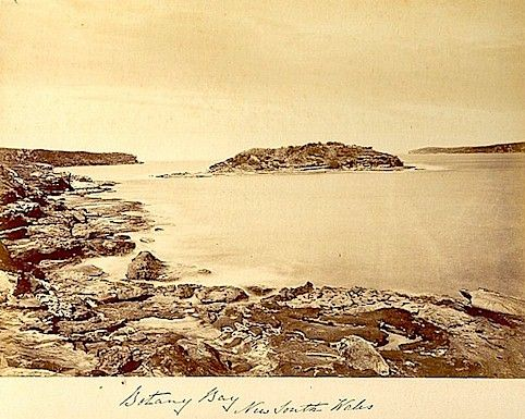 Irish convicts to Australia via the Public Record Office of Northern Ireland #genealogy    (Early photograph of Botany Bay (c.1869) PRONI Ref. D24/12/D/1)