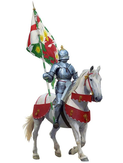 Battle of Bosworth 22nd August 1485 - Henry Tudor's standard bearer at the battle of Bosworth, Sir William Brandon was killed by King Richard III in his final charge.