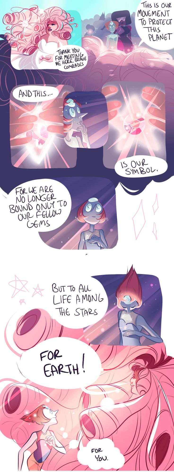 Except they don't get stars until after Rose meets Greg. Well, Rose has a star, and Greg has a star, but the rest of the gems don't.
