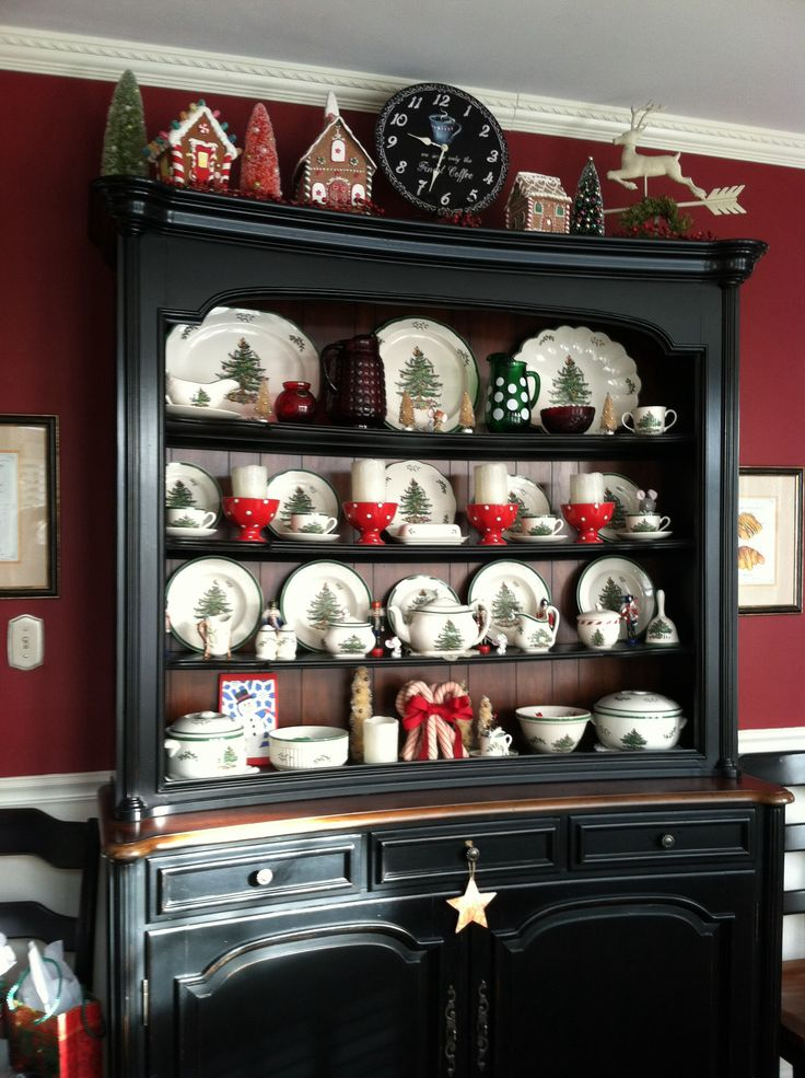 My Christmas Tree Spode Collection at home, just part of it...