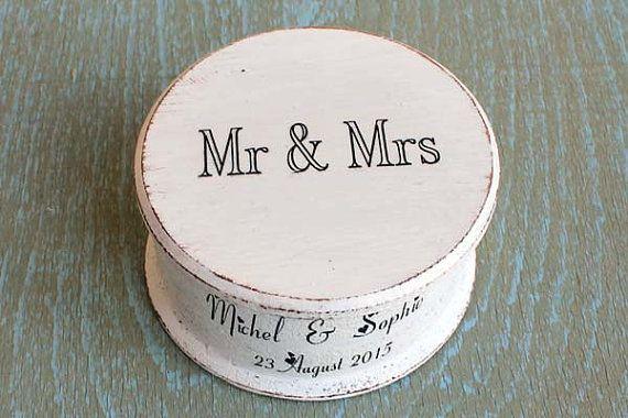 Wooden jewelry box Ring Bearer Box Wedding ring box by ArtDidi