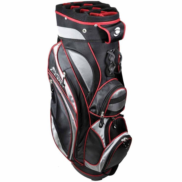 With thirteen-compartment top these mens CDX golf cart bags by Orlimar feature two large garment pockets and two large accessory pockets