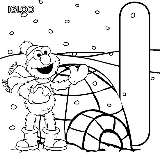 i is for igloo - Igloo Pictures To Color