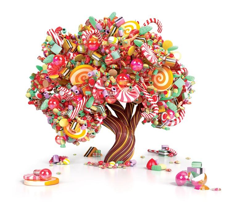 #Illustration #Splendourinthegrass #digital candy tree
