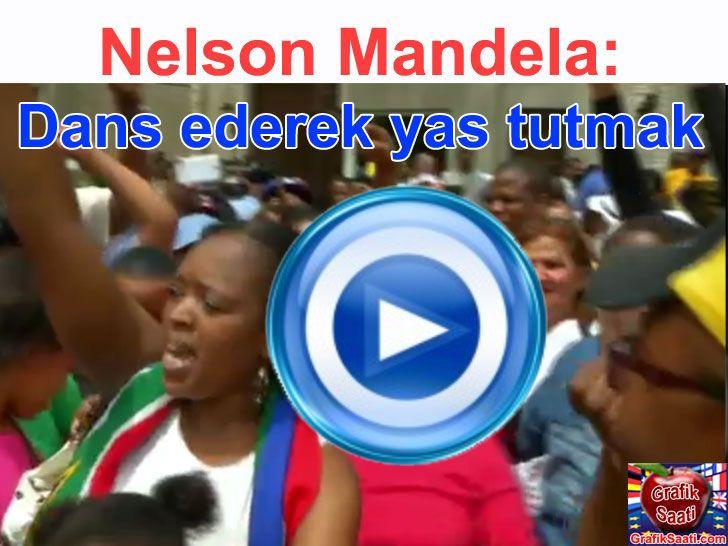 Nelson Mandela dans edip şarkı söylenerek uğurlanıyor - South Africa Nelson Mandela sing song dance