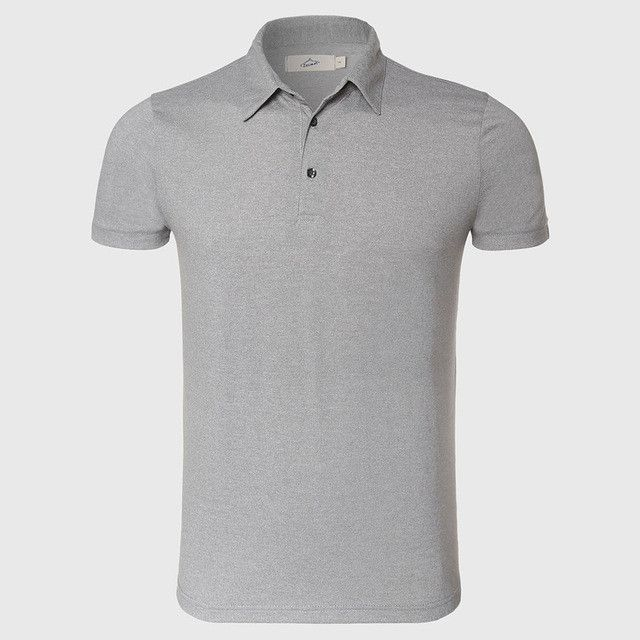 Men Polo Shirts Man Male Solid Plain Polo Shirt