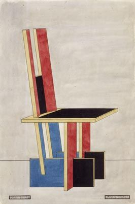 Piet Zwart 1920, kleurenschema Vilmos Huszár was a Hungarian painter and designer. He lived in The Netherlands, where he was one of the founder members of the art movement De Stijl.  Sort of similar to the earlier Gerrit Rietveld Red Blue Chair.