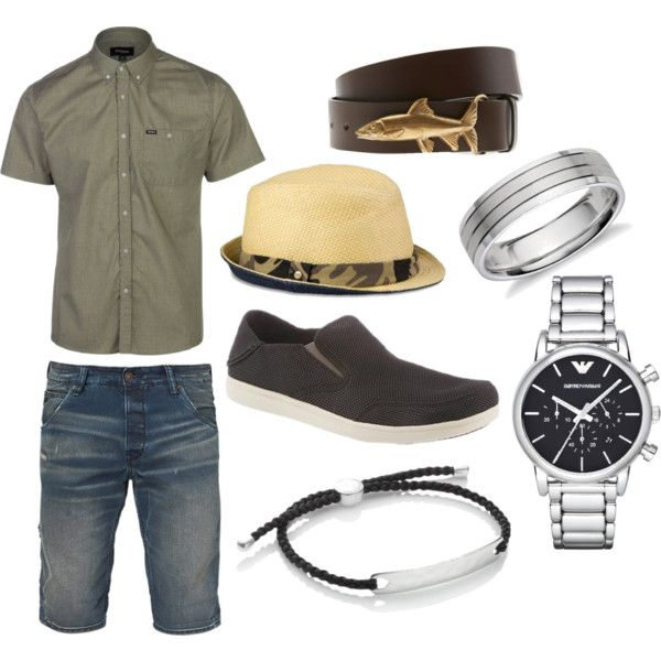 The Hunter by bearpawstyle on Polyvore featuring Brixton, Blue Nile, Emporio Armani, Monica Vinader, UGG Australia and Bearpaw