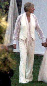 Ellen Degeneres' Wedding Attire! Beautiful! | Wedding ...