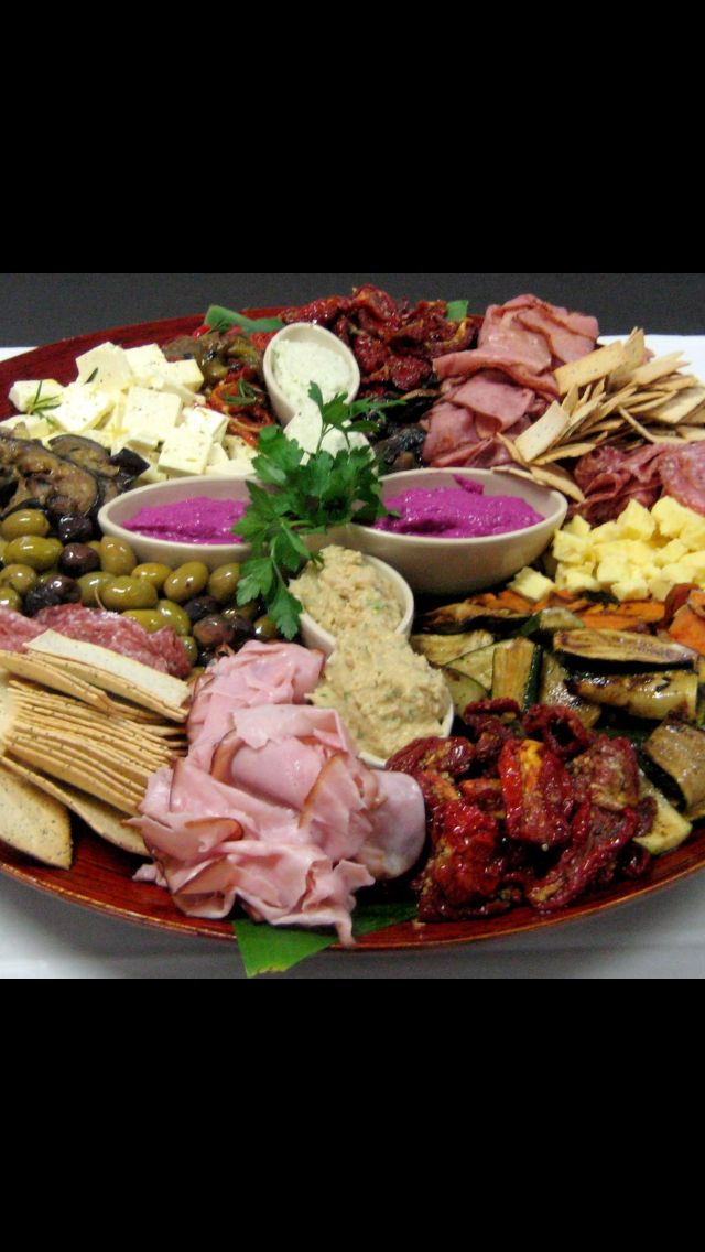 Colorful anti-pasto platters. Perfect for that cocktail party