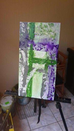 """Purple Rain"" Abstract Acrylic on canvas by Nika"