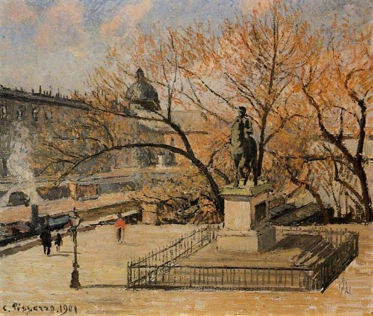 Camille Pissarro Pont-Neuf, the Statue of Henry IV